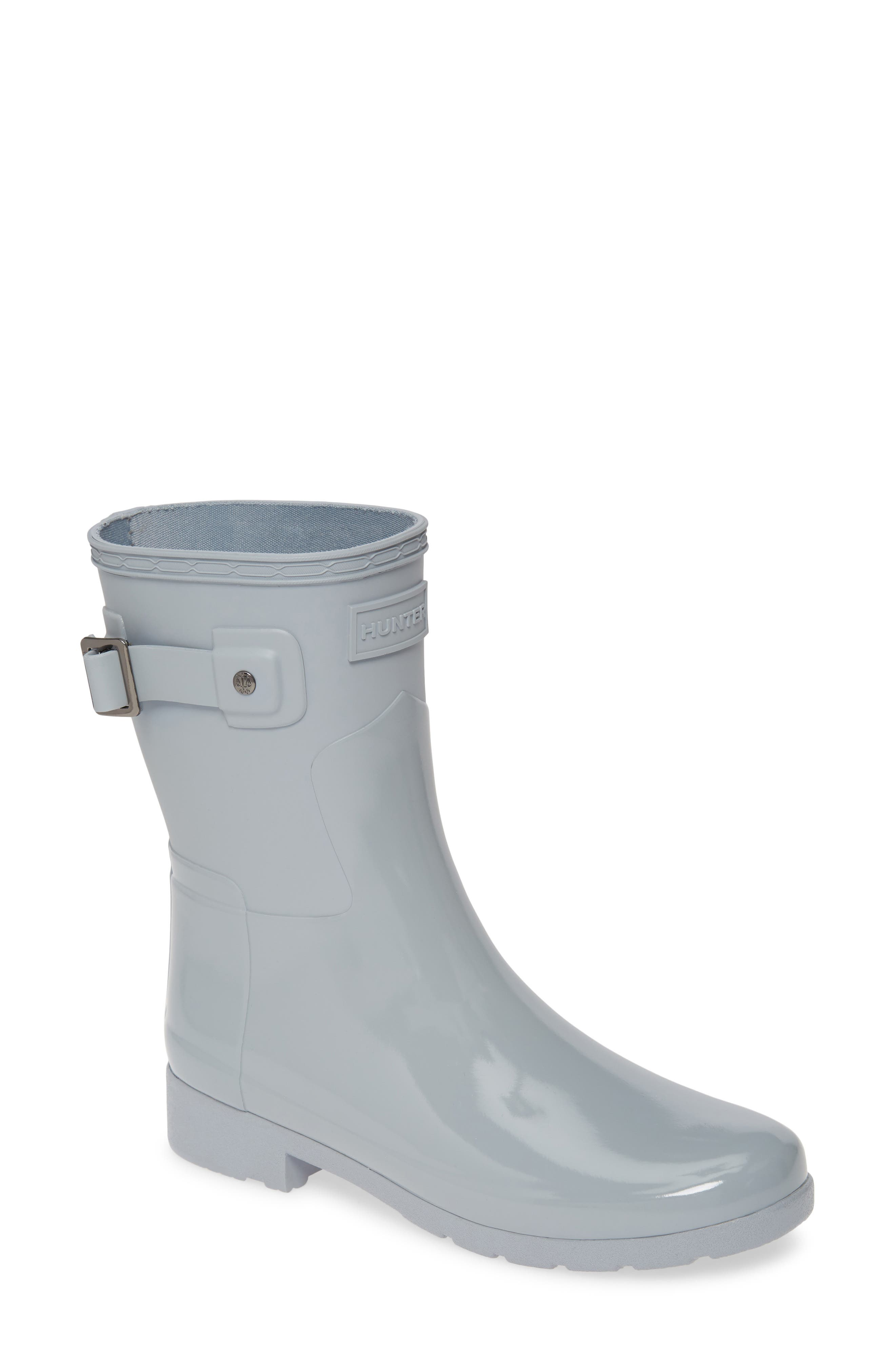 Hunter Original Refined Mixed Finish Short Waterproof Rain Boot (Women)