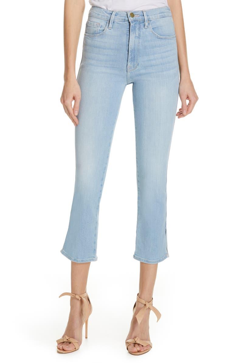 FRAME Le Sylvie Slit Hem Crop Slim Jeans, Main, color, 421