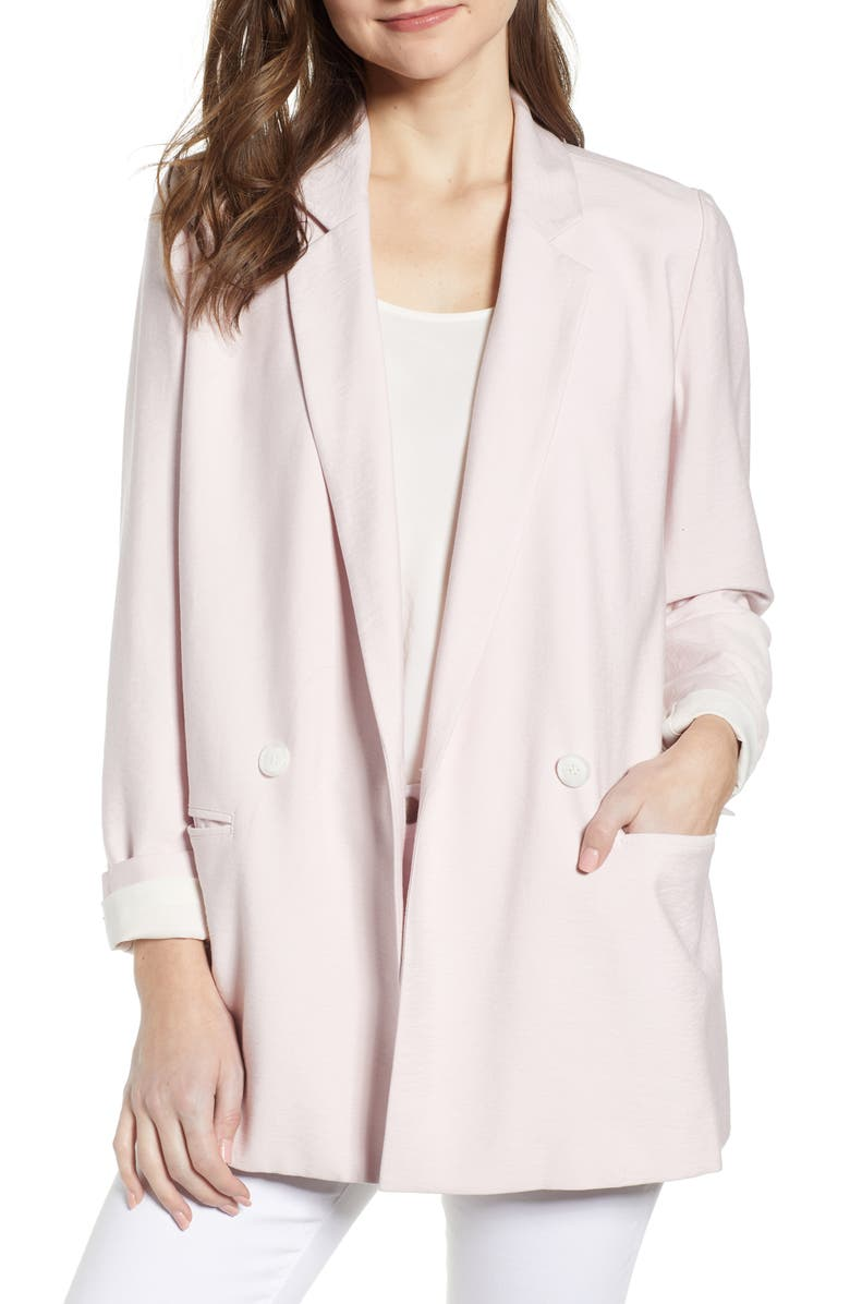 CHELSEA28 Double Breasted Boxy Blazer, Main, color, 680