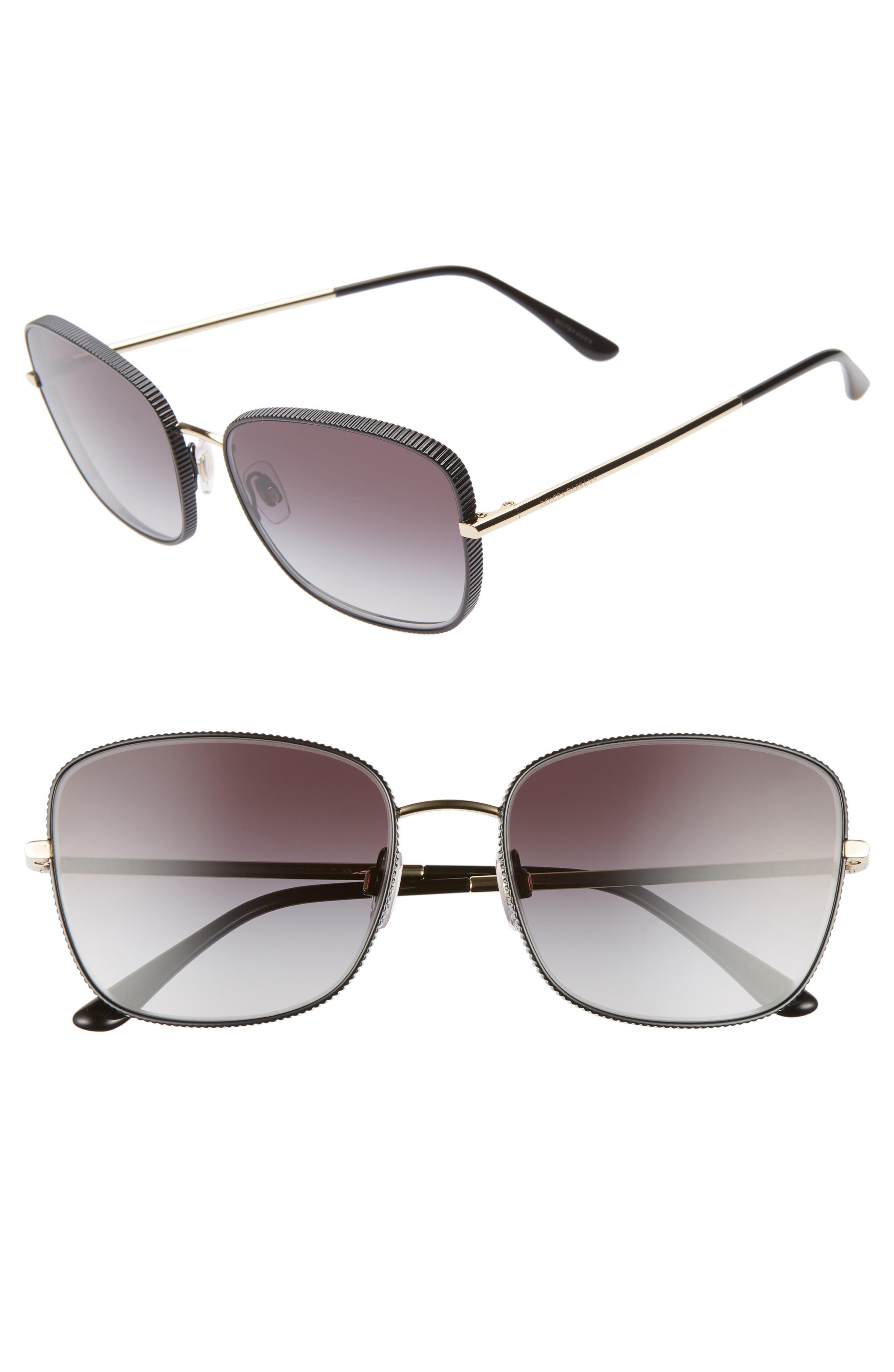 Dolce & gabbana 5m Gradient Butterfly Sunglasses - Black/ Gold