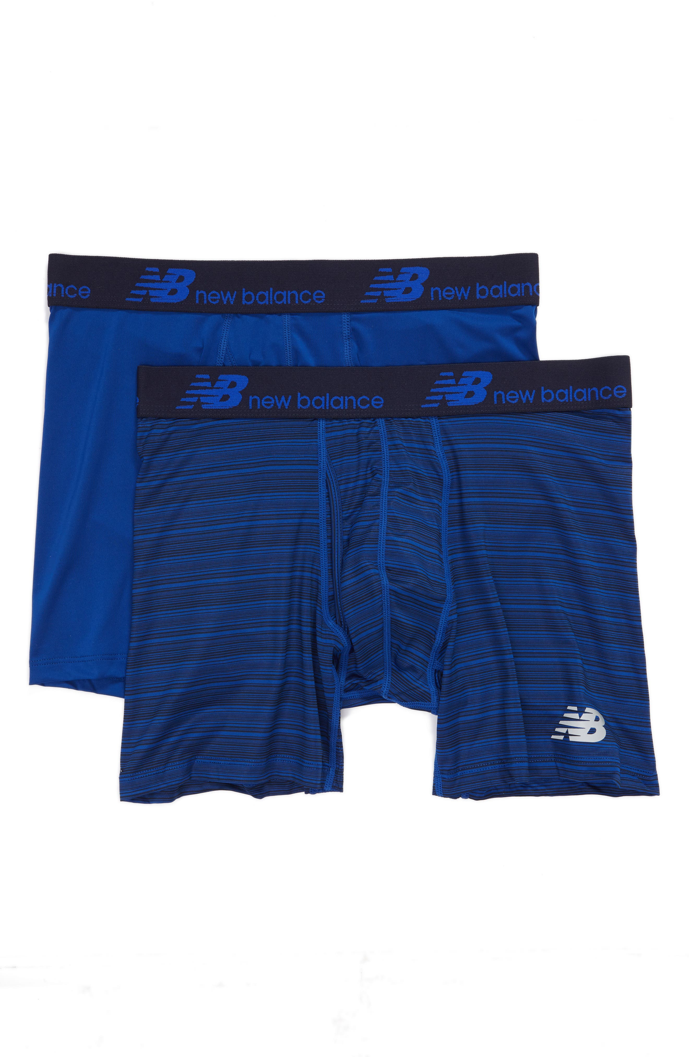 New Balance 2-Pack Boxer Briefs, Blue
