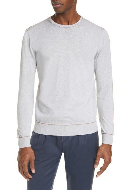 Image of ELEVENTY Crew Neck Contrast Slim Sweater