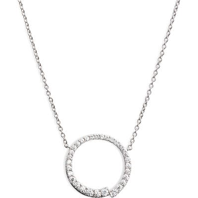 Nadri Ripple Circle Pendant Necklace