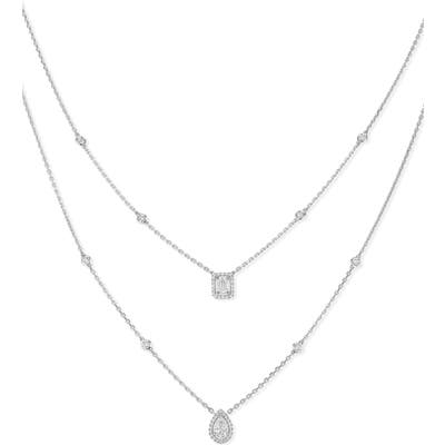 Messika My Twin Two-Strand Diamond Necklace