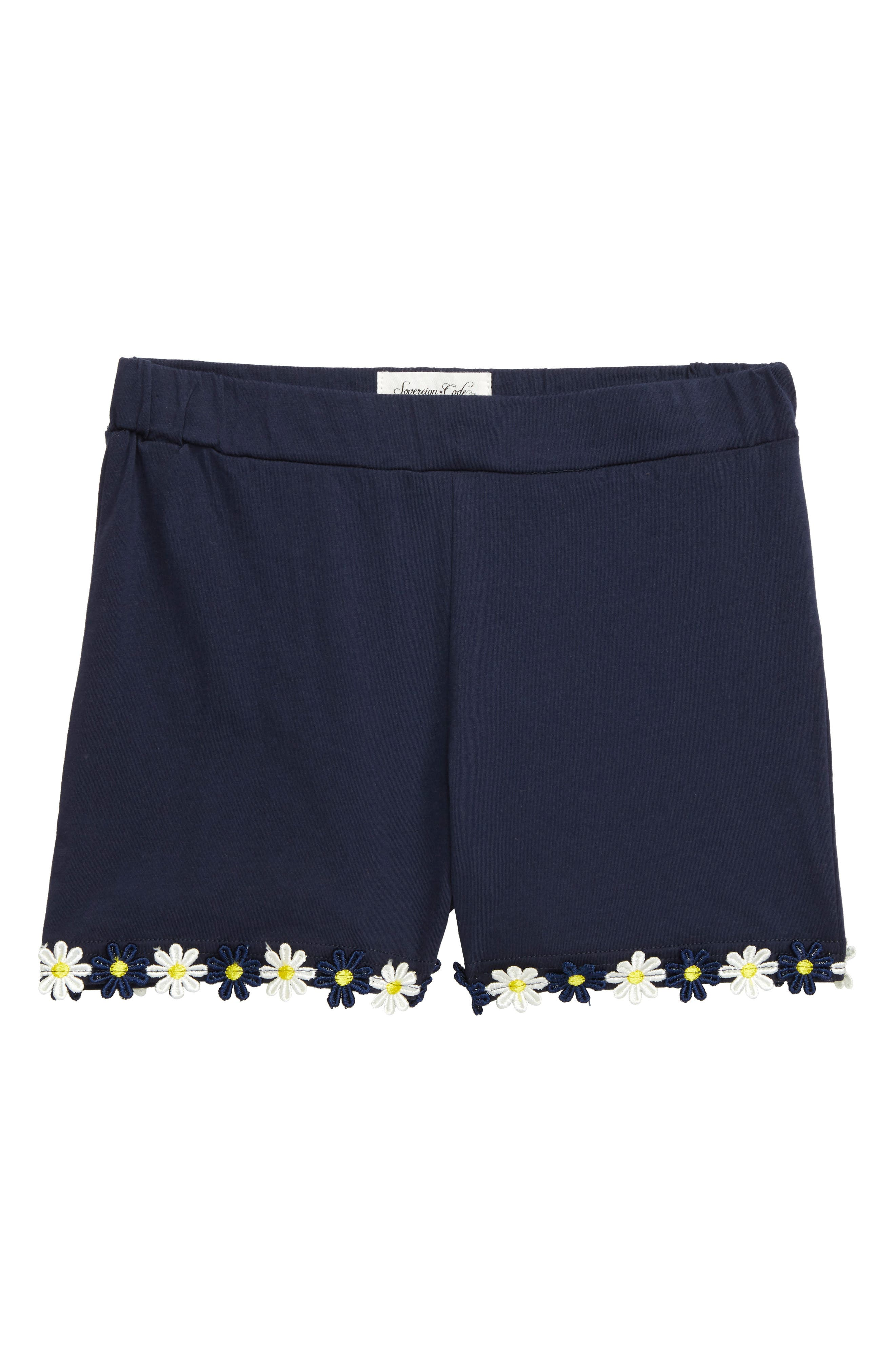 Toddler Girls Sovereign Code Fern Daisy Trim Shorts Size 2T  Blue