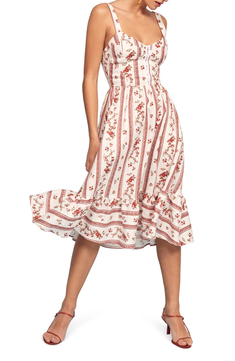 Dolci Floral Sundress, Main, color, VIENNA