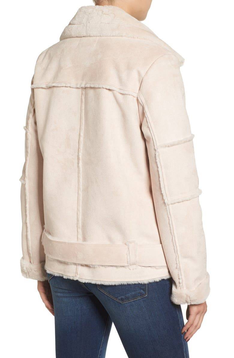 J.O.A. Faux Shearling Jacket, Main, color, 655