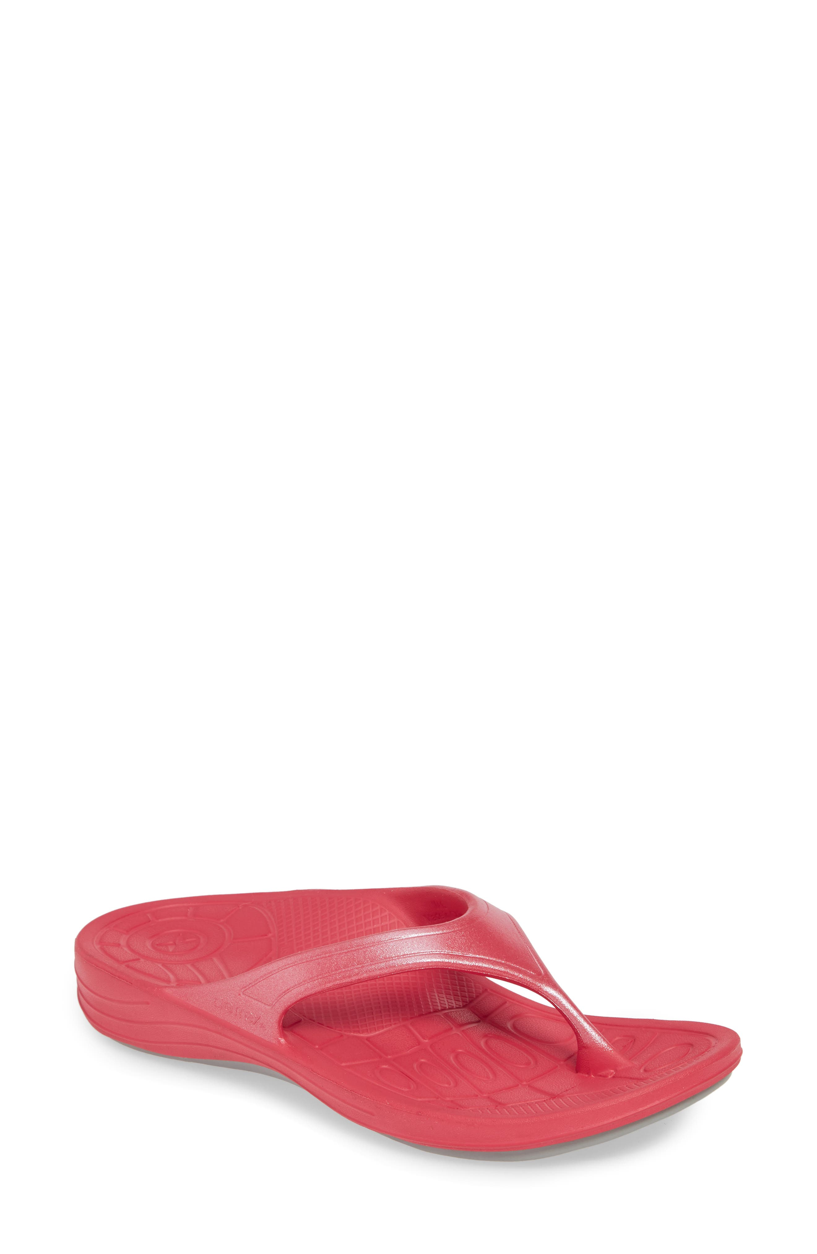Aetrex Fiji Flip Flop, Pink