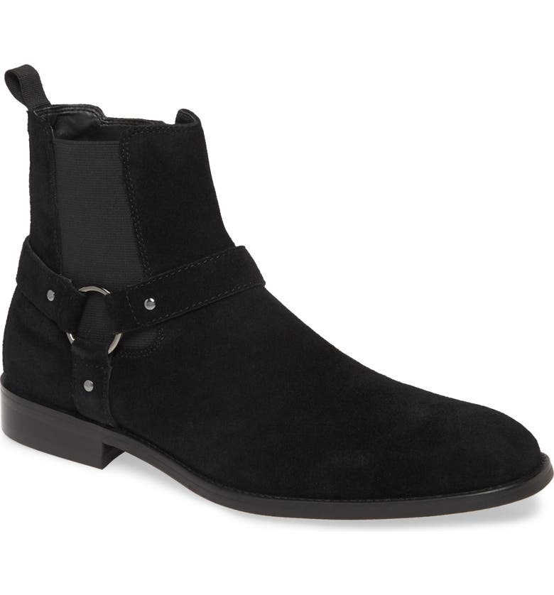 BP. Mesquite Chelsea Boot, Main, color, BLACK SUEDE