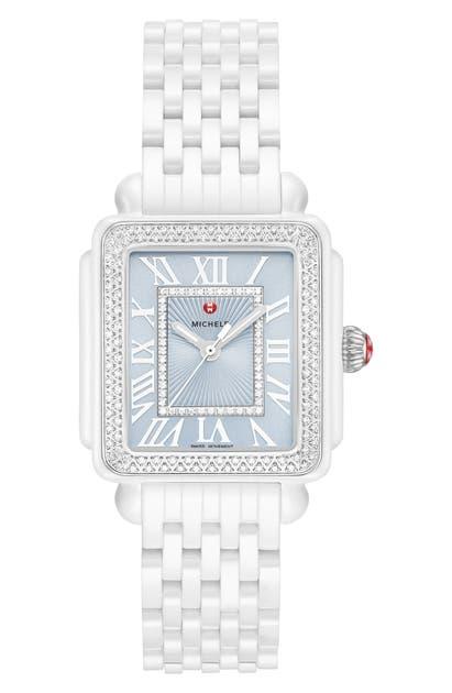 Michele Watches DECO MADISON MID DIAMOND WATCH HEAD & BRACELET STRAP WATCH, 16MM