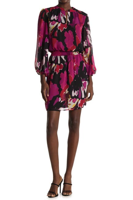 Image of Trina Turk Kaneshon Printed Smocked Waist Dress