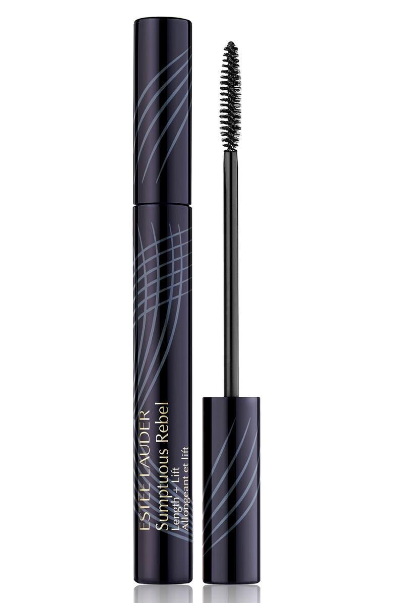 ESTÉE LAUDER Sumptuous Rebel Length + Lift Mascara, Main, color, BLACK