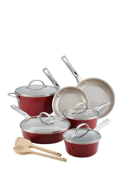 Image of AYESHA Collection Cookware 12-Piece Set - Sienna Red
