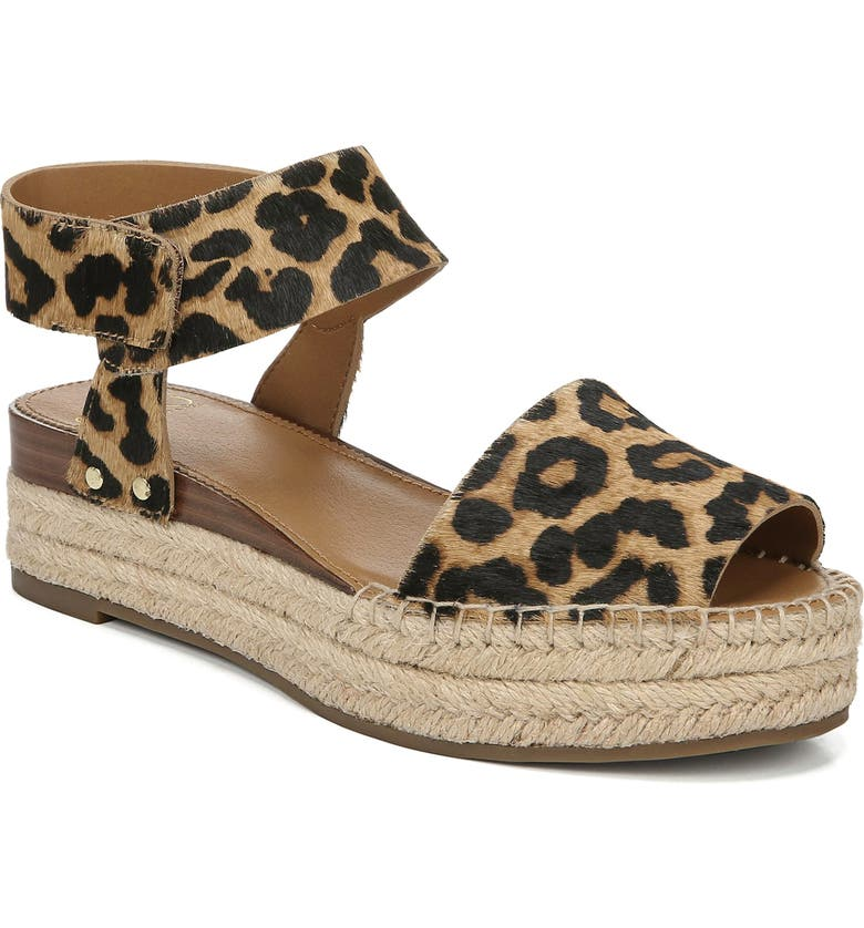 6da017d544f Oak Genuine Calf Hair Platform Wedge Espadrille