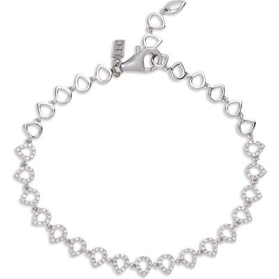 Ef Collection Diamond Teardrop Bracelet
