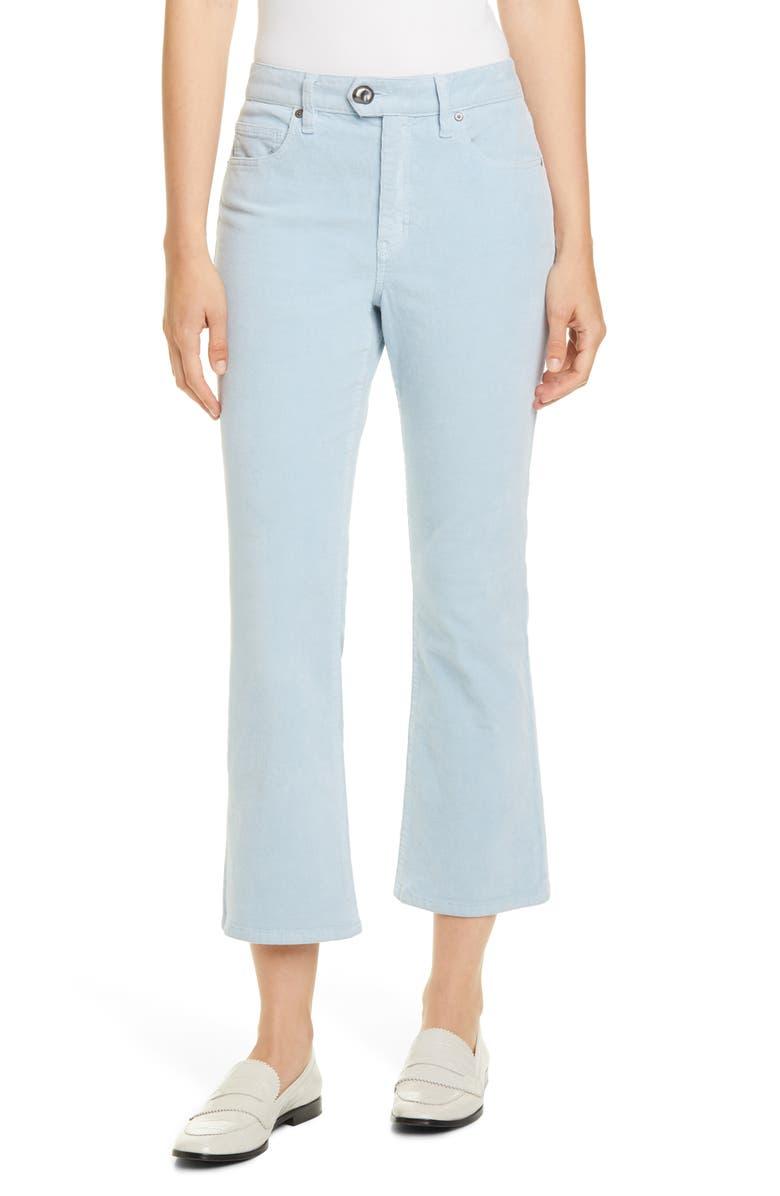 JOIE Maza Crop Corduroy Pants, Main, color, THISTLE