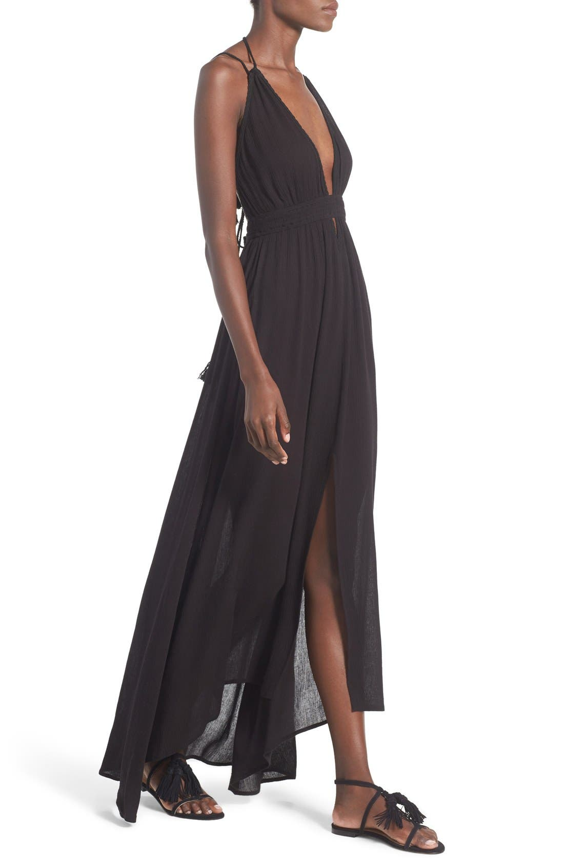 ,                             ASTR 'Belen' Maxi Dress,                             Alternate thumbnail 2, color,                             001