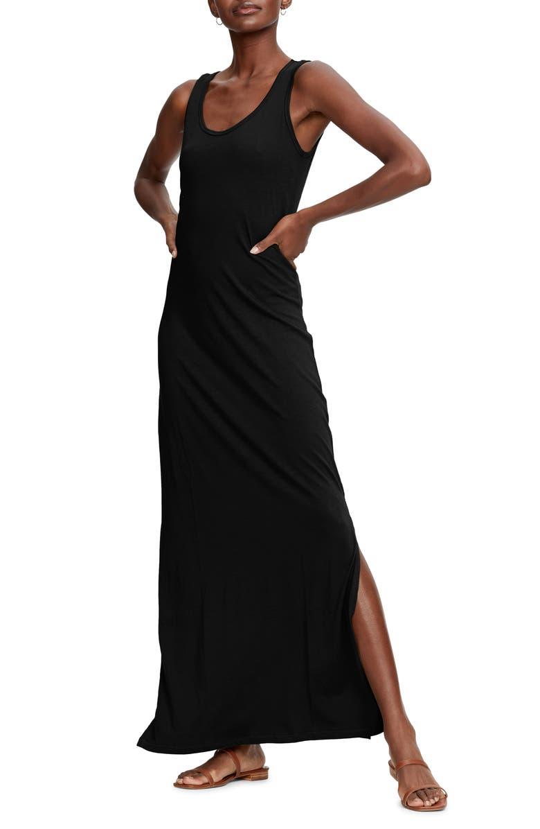 MICHAEL STARS Isabelle Cotton & Modal Maxi Dress, Main, color, 001