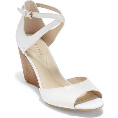 Cole Haan Sadie Grand Wedge Sandal B - White