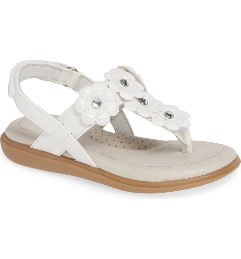 SOLE PLAY Cora Floral Embellished Sandal, Main, color, WHITE