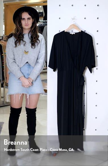 Short Sleeve Wrap Maxi Dress, sales video thumbnail