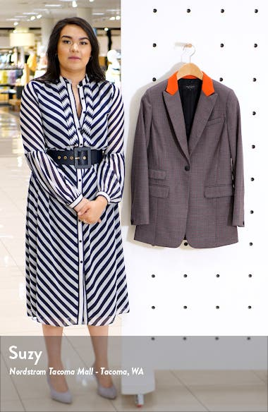 Paloma Check Stretch Wool Blend Blazer, sales video thumbnail