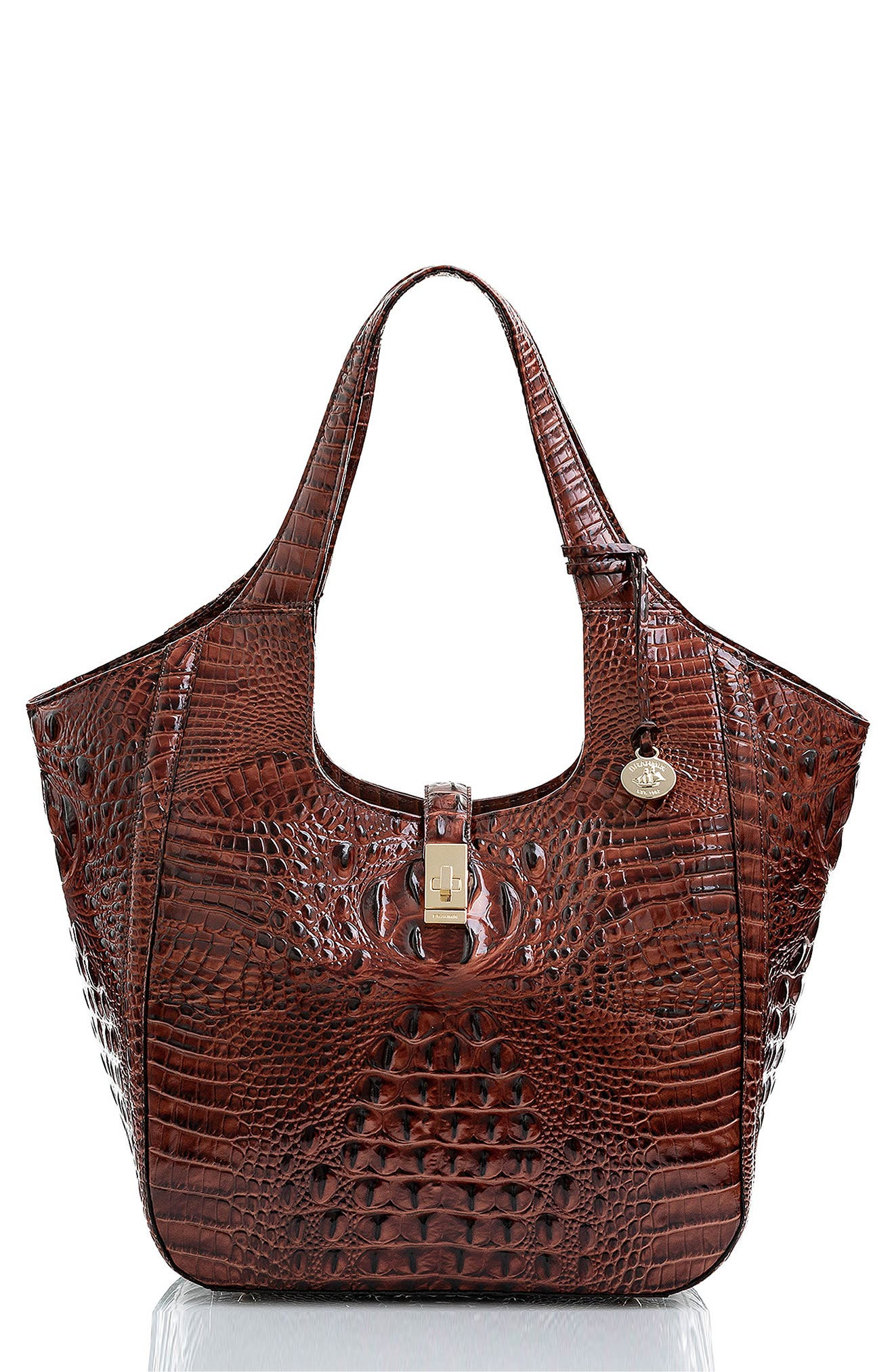 Carla Croc Embossed Leather Tote