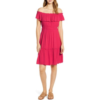 Tommy Bahama Caicos Off The Shoulder Dress, Pink