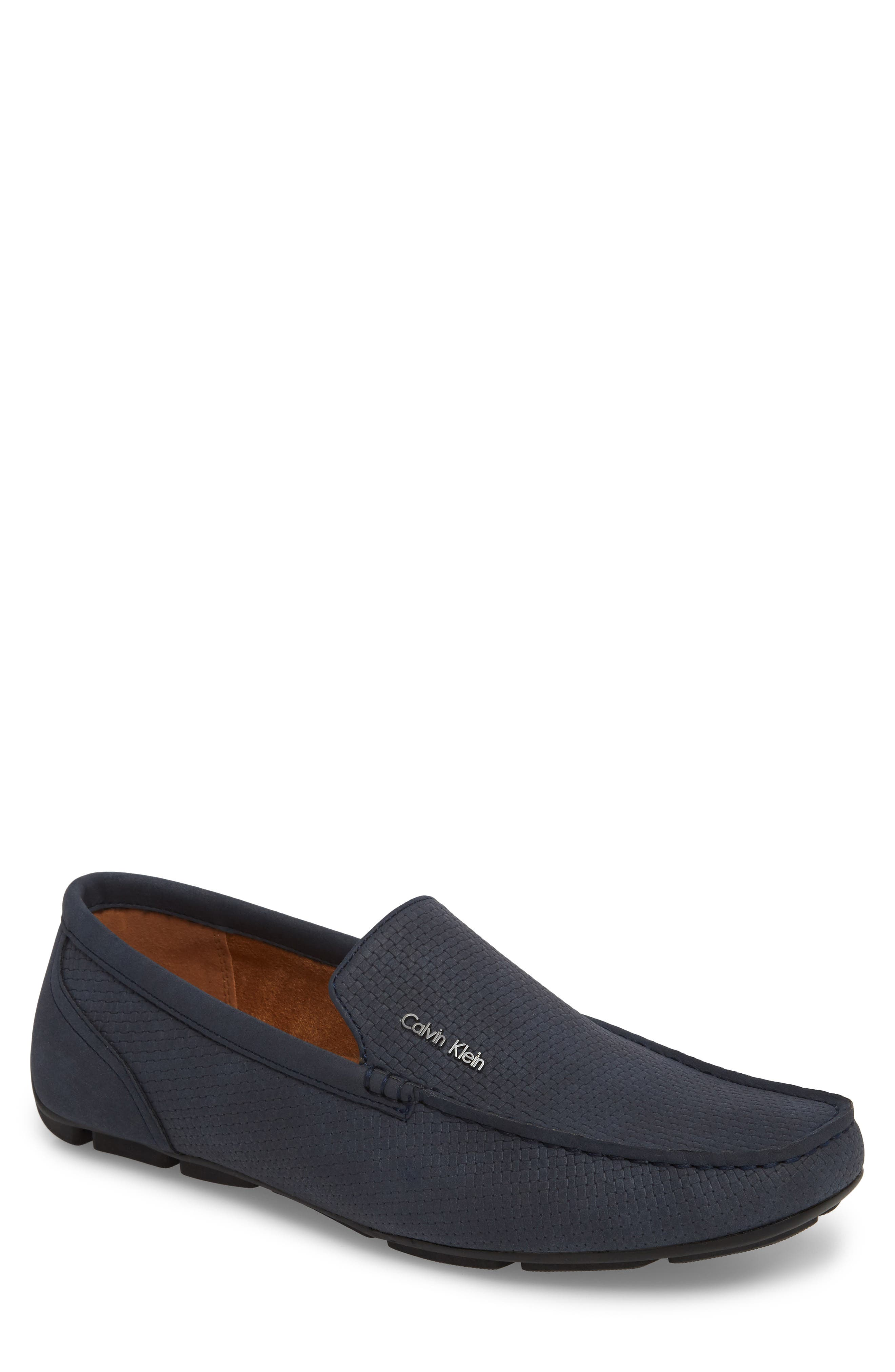 Calvin Klein Manny Textured Driving Loafer, Blue