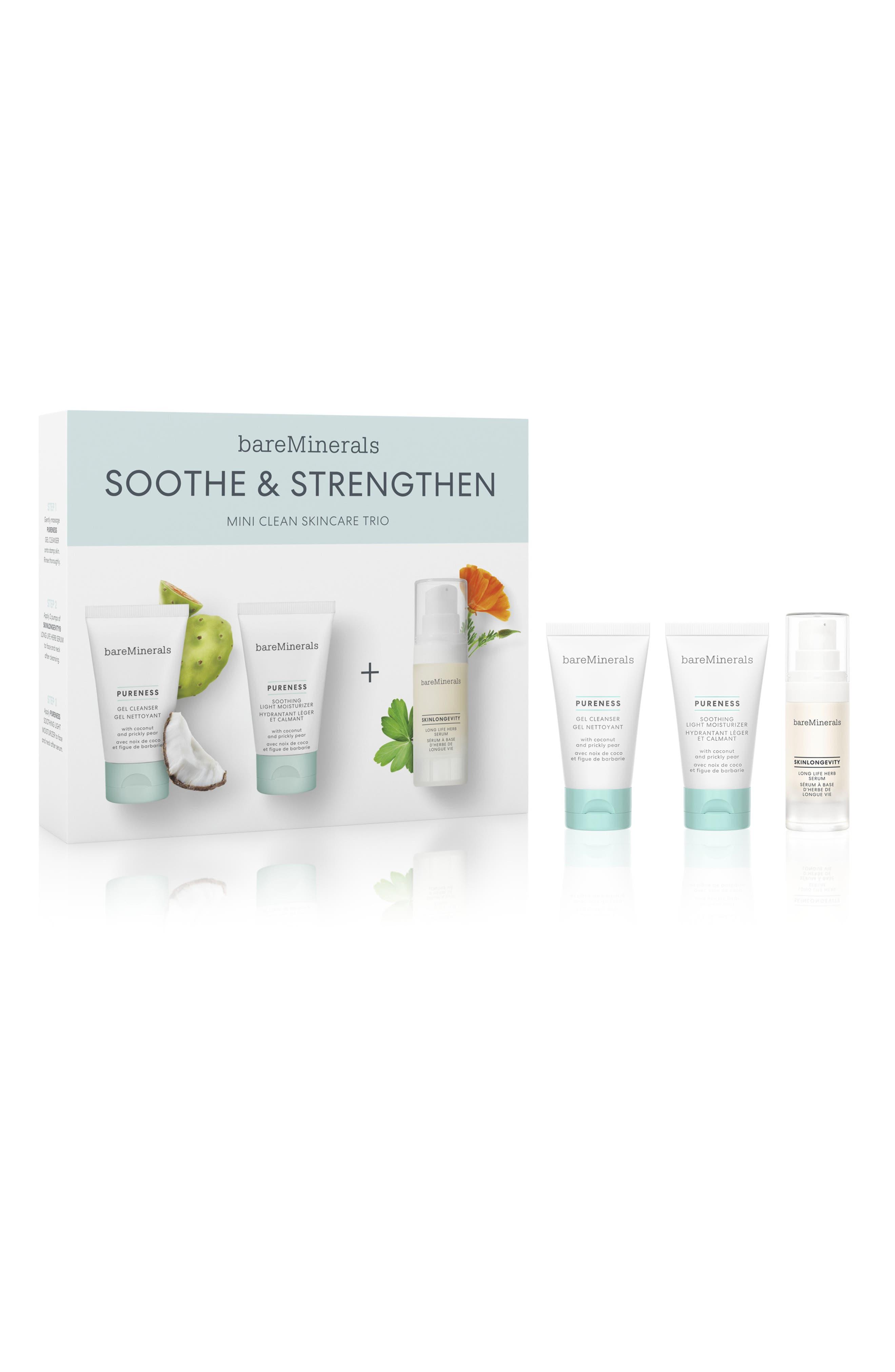 Bareminerals Soothe & Strengthen Travel Size Skin Care Set