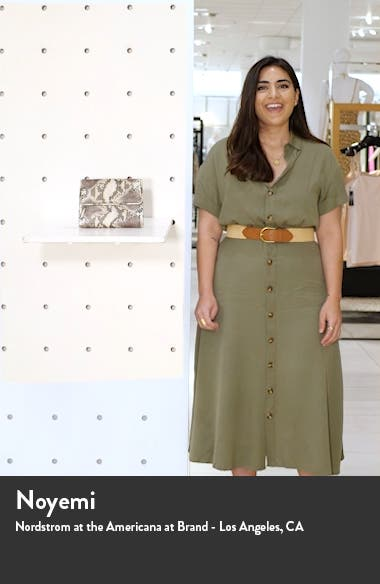 Chelan Snakeskin Print Leather Flap Crossbody Bag, sales video thumbnail