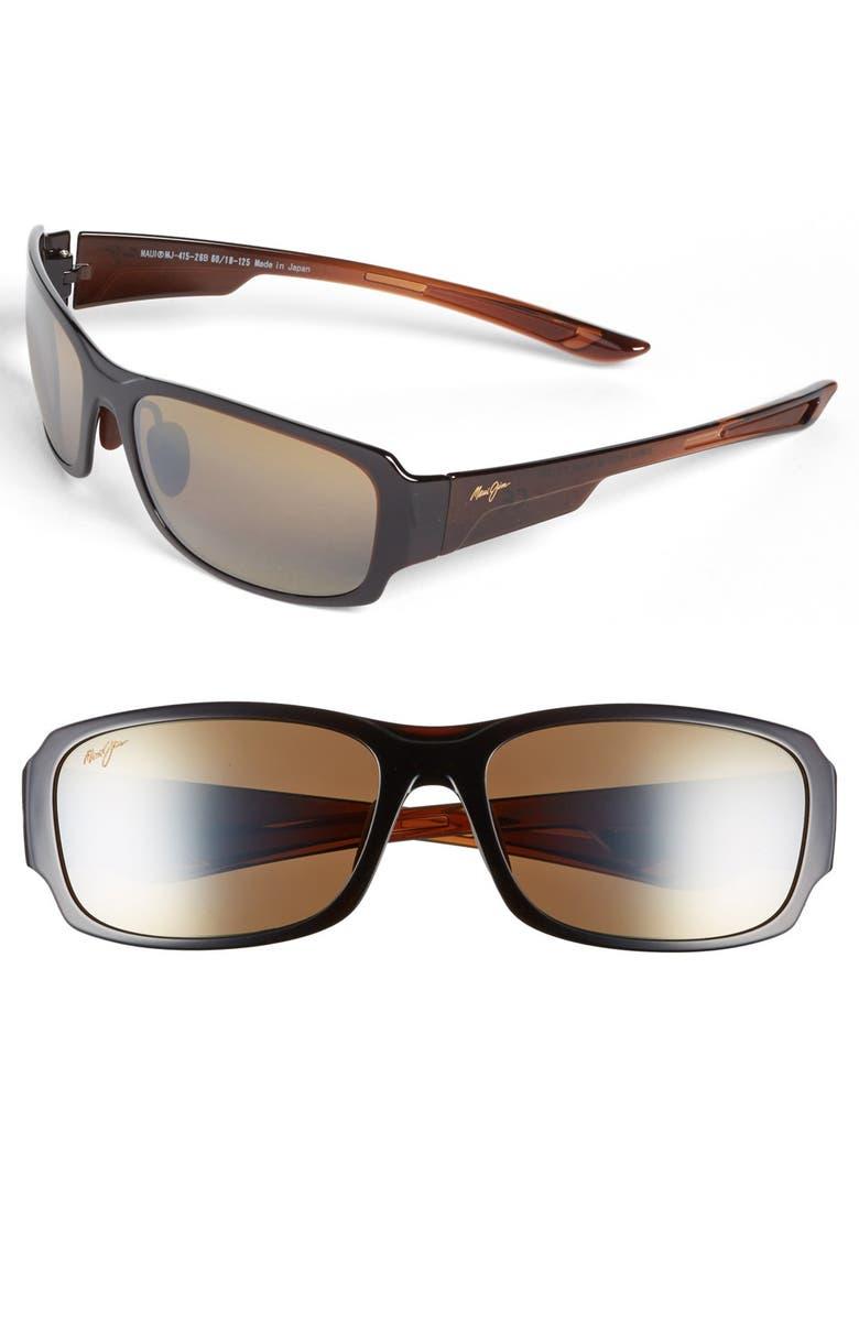 MAUI JIM 'Forest - PolarizedPlus<sup>®</sup>2' 60mm Sunglasses, Main, color, 200