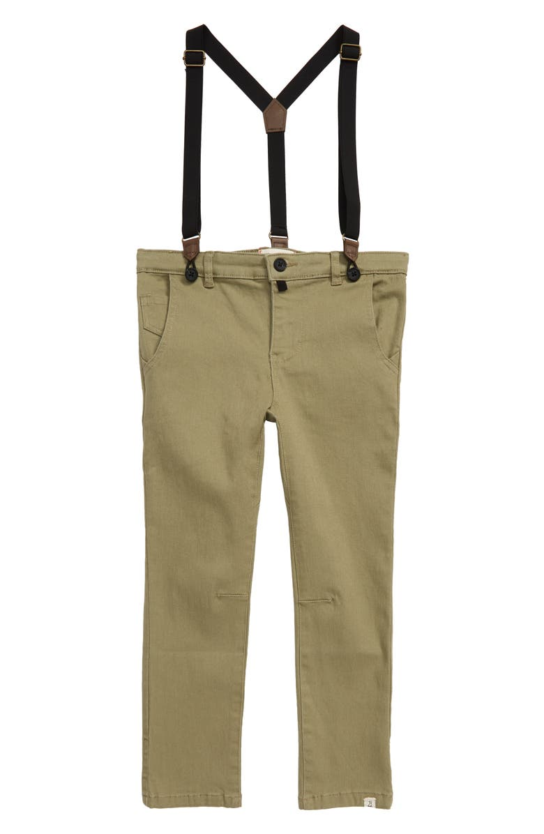 ME & HENRY Pants with Removable Suspenders, Main, color, OLIVE