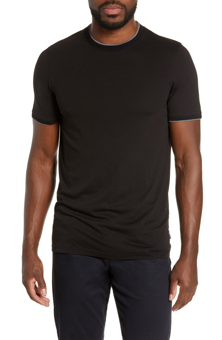 TED BAKER LONDON Sink Slim Fit T-Shirt, Main, color, BLACK