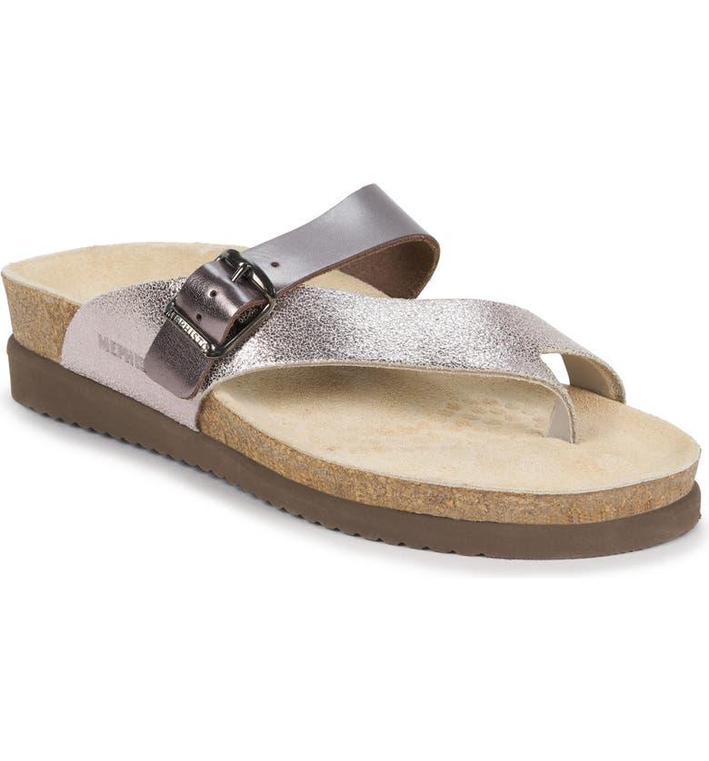 MEPHISTO Helen Mix Sandal, Main, color, OLD PINK / BRONZE STAR NUBUCK