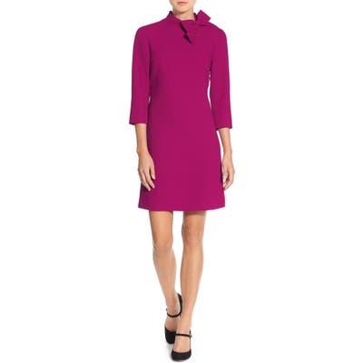 Eliza J Bow Neck Crepe Shift Dress, 8 (similar to 1) - Pink