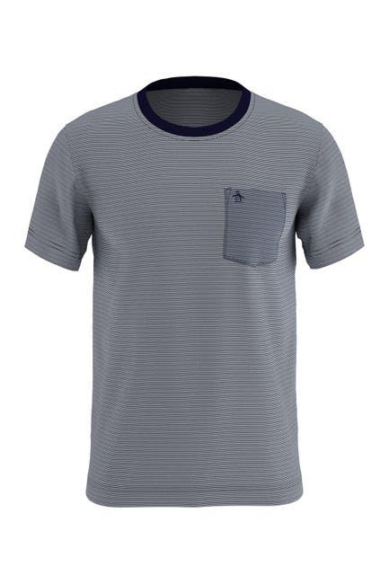 Image of Original Penguin Feeder Stripe Pocket Short Sleeve T-Shirt
