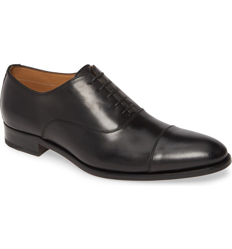 TO BOOT NEW YORK Forley Cap Toe Oxford, Main, color, BLACK LEATHER
