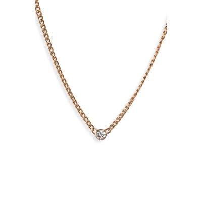 Zoe Chicco Bezel Diamond Curb Chain Necklace