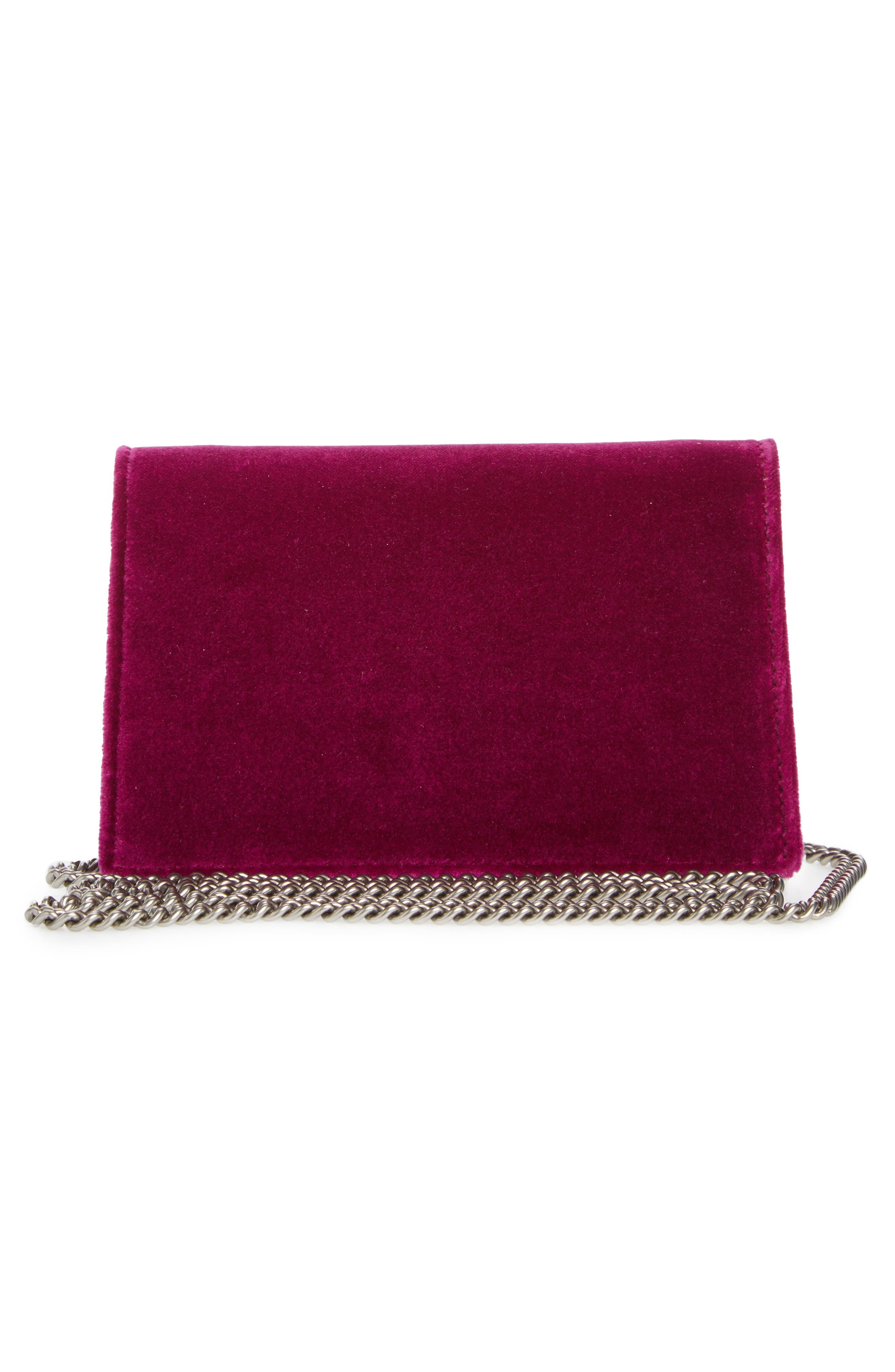 ,                             Super Mini Dionysus Velvet Shoulder Bag,                             Alternate thumbnail 15, color,                             560