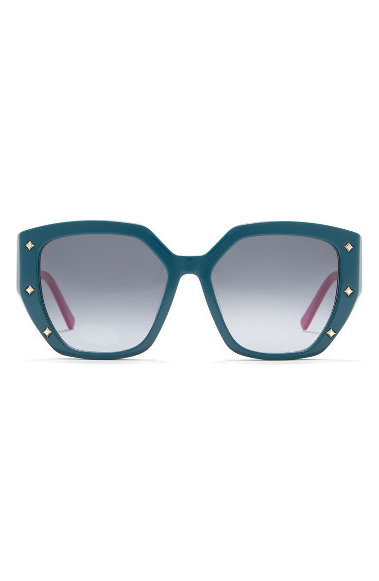 MCM 55mm Rectangle Sunglasses, Main, color, PETROL