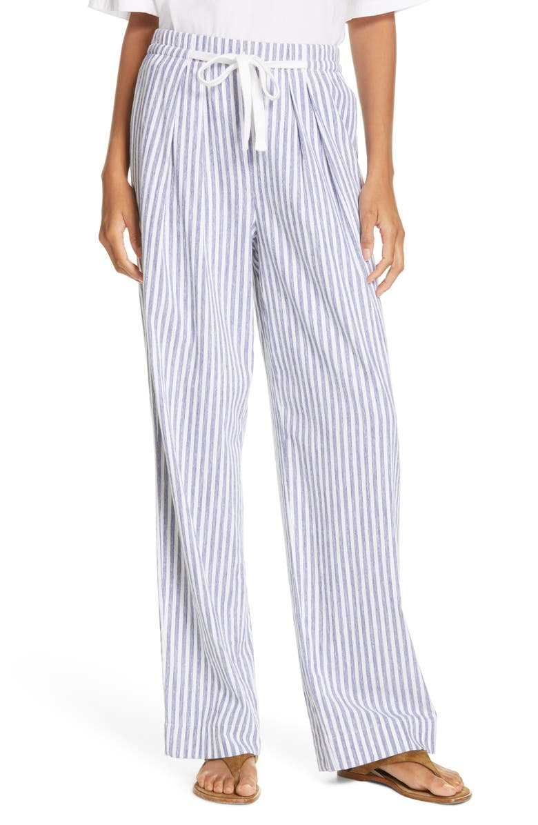 VINCE Wide Leg Pull-On Pants, Main, color, INDIGO