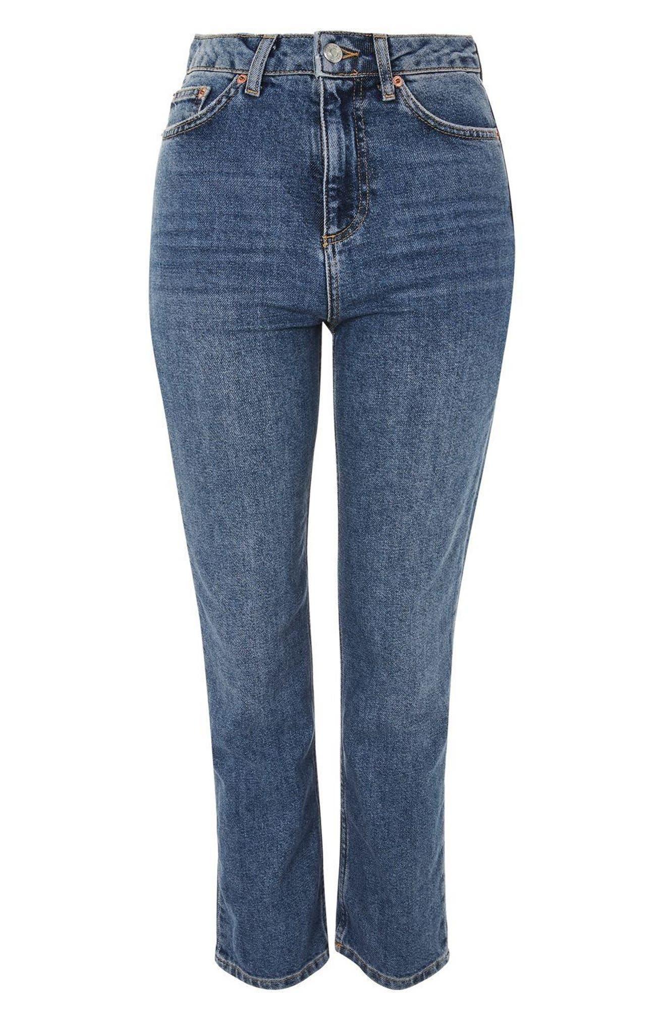 ,                             Straight Leg Jeans,                             Alternate thumbnail 7, color,                             420