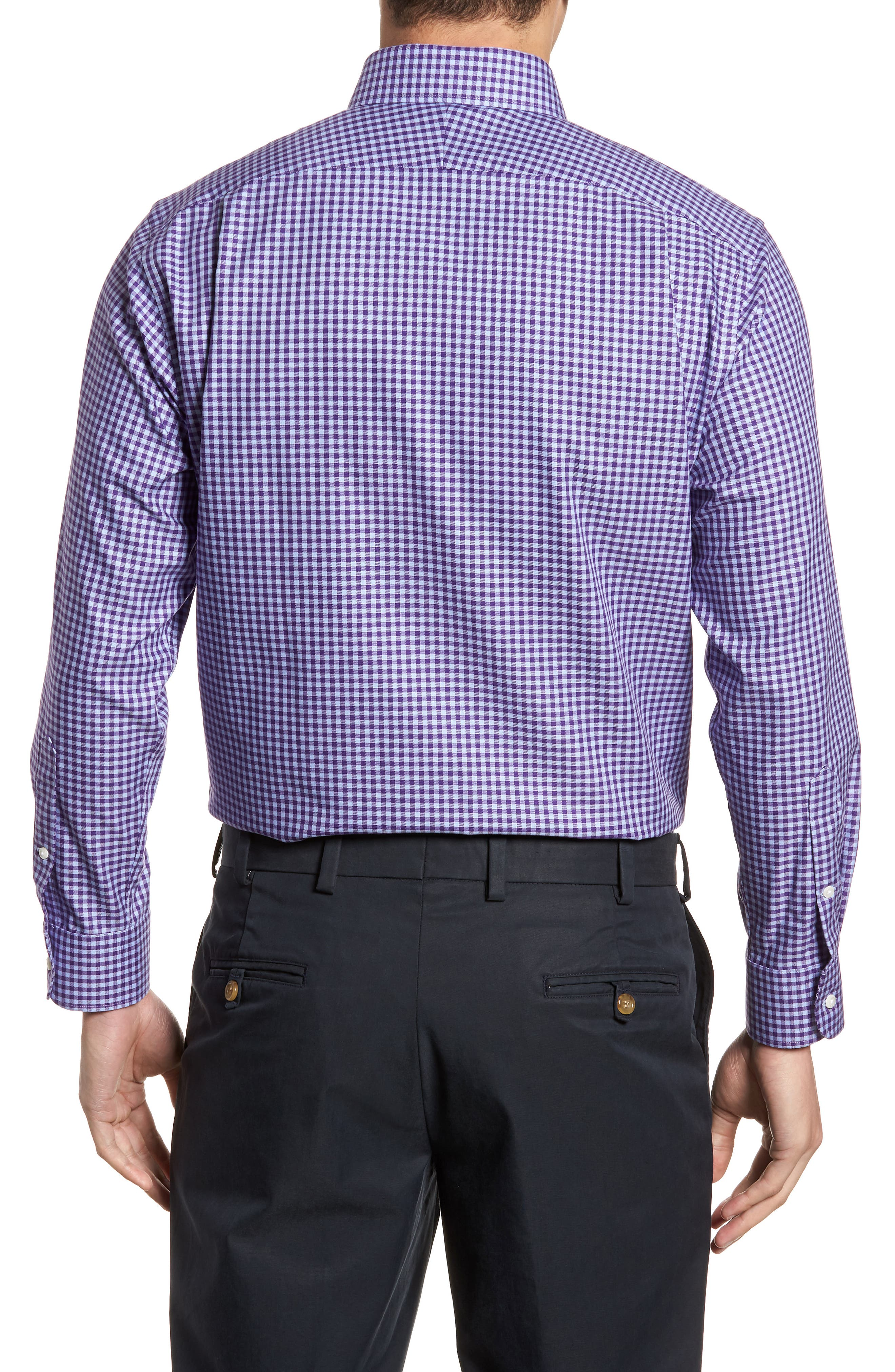,                             Traditional Fit Non-Iron Gingham Dress Shirt,                             Alternate thumbnail 66, color,                             520
