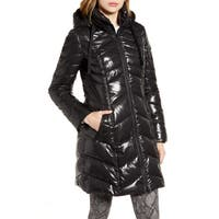 Deals on SAM EDELMAN Hooded Puffer Jacket