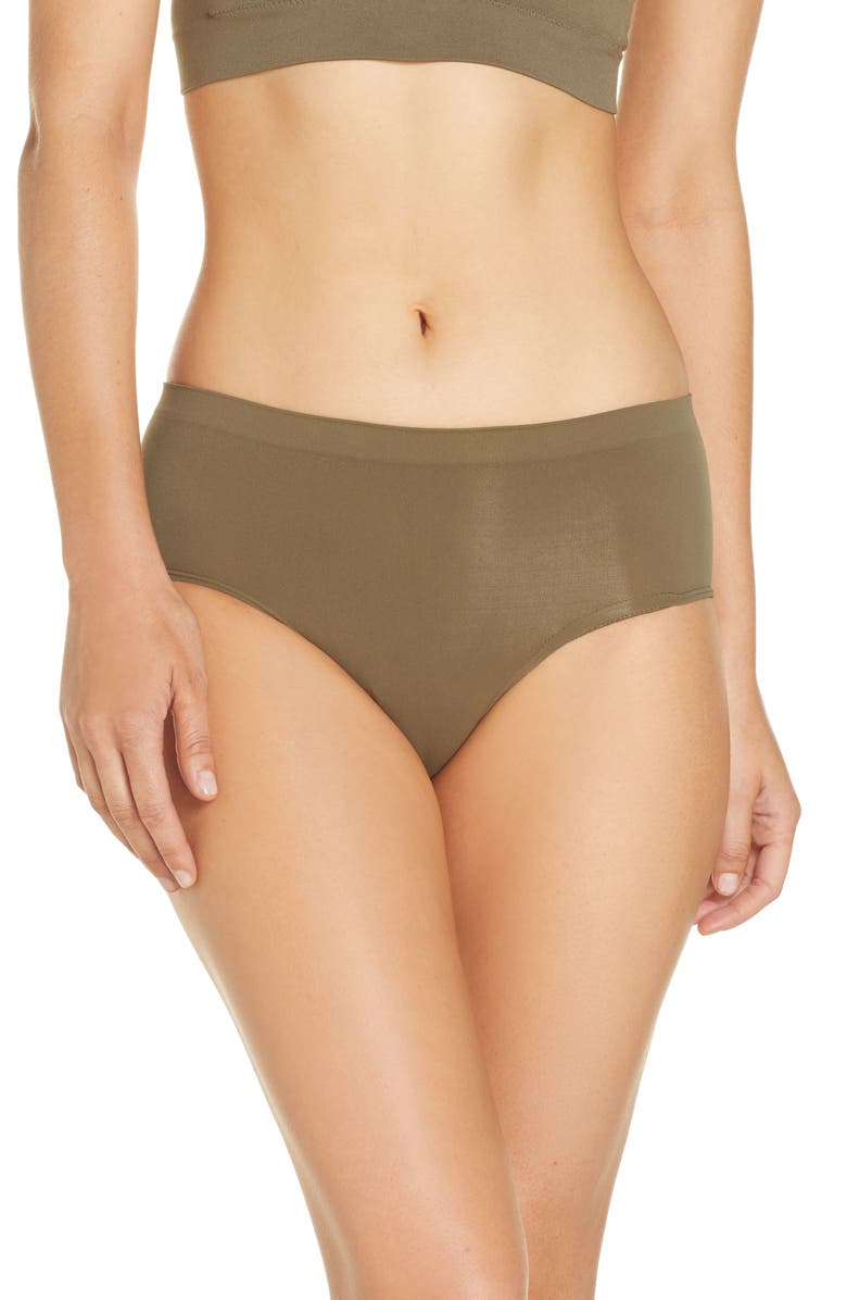 HALOGEN<SUP>®</SUP> Seamless Hipster Briefs, Main, color, OLIVE SARMA