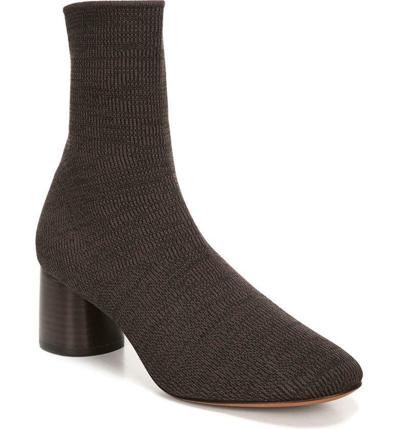 VINCE Tasha Sock Bootie, Main, color, MAHOGANY
