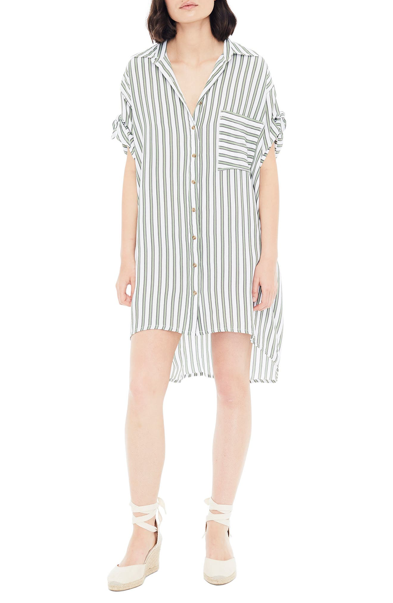 Porte Stripe Shirtdress, Main, color, ALMERIA STRIPE PRINT