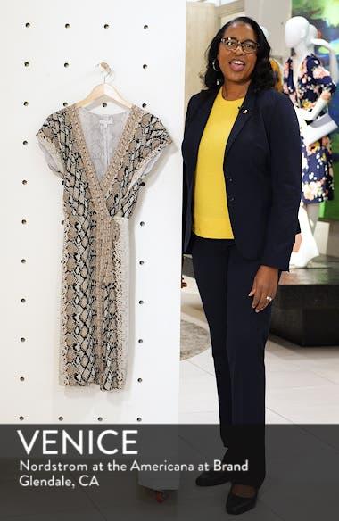 Bethwyn C Snakeskin Print Wrap Style Dress, sales video thumbnail