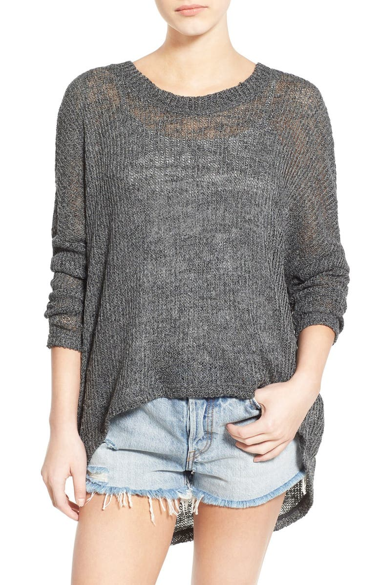 LOVE BY DESIGN Ribbed High/Low Knit Pullover, Main, color, 020